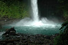 The radiating force of the current produced from the falls, created a resistance to great to swim against, from the rock-lined edge of the emerald pool, to the direct falling waters of Catarata Fortuna (Fortune Waterfall) - Arenal Volcano National Park - Alejuela province