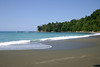 Playa Madrigal adjacent to the tropical rain forest - along the La Leona Coastal Trail - Corcovado National Park - Osa Peninsula - Puntarenas province