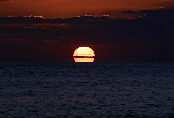 Sunset across the Pacific Ocean from Playa Ocotal - Guanacaste province