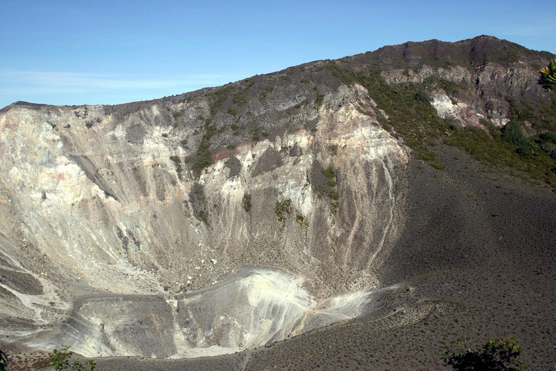 Volcan Turrialba - the center crater - Cartago province