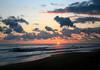 Sunset at Playa Matapalo (Strangler Fig Beach) - the southern end of the Osa Peninsula - Puntarenas province