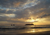 Sunset at Isla Largo (Long Island) - from Playa Espadilla Norte, just north of Manuel Antonio National Park - Puntarenas province