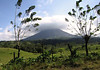 Volcán Arenal - eastern view with the vent covered amongst the clouds - Arenal Volcano National Park - Alajuela province
