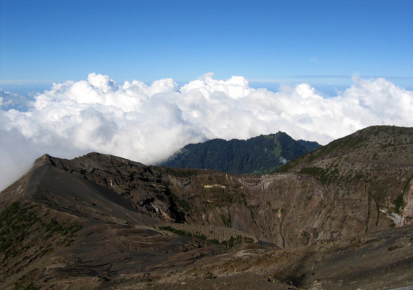 Volcan Irazu - rising to 11,259 ft. (3,432 m) above sea level, it is the highest active volcano in Costa Rica - located in the Cordillera de Central (mountains) - Cartago province