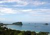 Playa Espadilla Sur (South Skull Beach) - Punta Catedral (Cathedral Point) - Isla Olocuita (far R) and Isla Toro Amarillo (Yellow Bull Island) - Manuel Antonio National Park - Puntarenas province