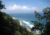 Southern coast of the Osa Peninsula, near Cabo Matapalo - looking across the Dulce Golfo (Sweet Gulf) - towards Playa Zancudo, the southwest area of the Puntarenas province
