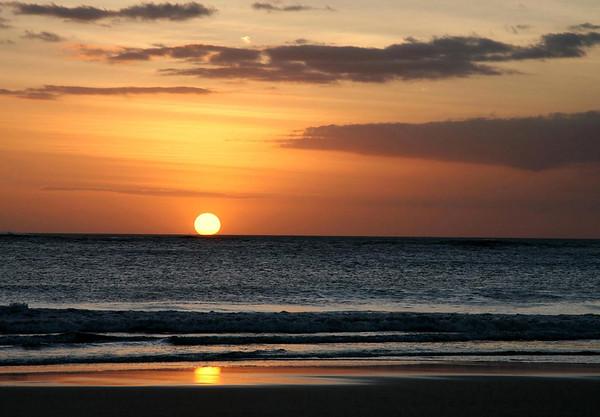 Sunset reflection on Playa Grande - northern Nicoya Peninsula - Guanacaste province