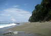 Northwestern view along the beach near Cabo Matapalo - southern end of the Osa Peninsula - Puntarenas province