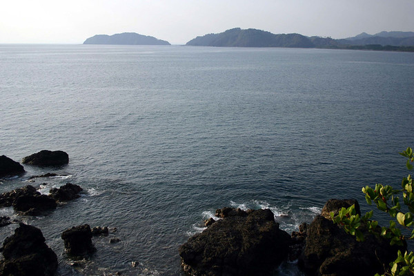 Isla Herradura, the southern end of Bahia Herradura - just northwest of Jaco (town) - from Punta Guapinol - Puntarenas province