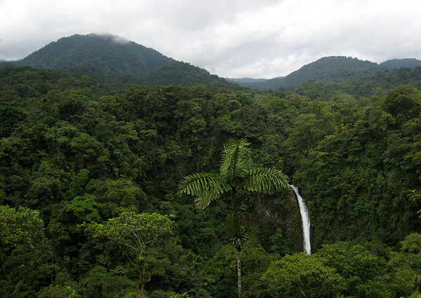 Catarata Fortuna (waterfall) - located at the base of the dormant Volcan Chato - adjacent to the active Volcan Arenal - Arenal Volcano National Park (established 1991) Alajuela province