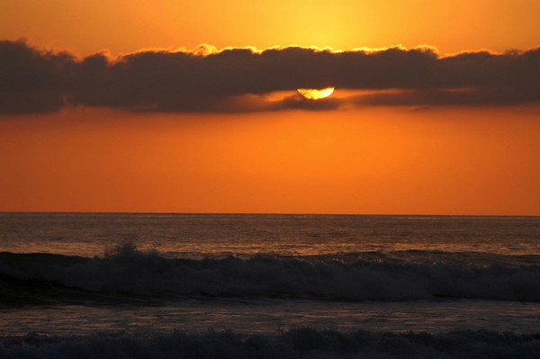Playa Malpais sunset  under the stratus cloud - southern Nicoya Peninsula - Puntarenas province
