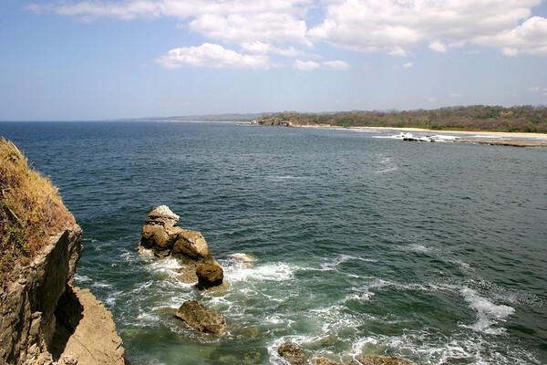 Atop Punta Roca (Rock Point) - looking across to the north end of Playa Nosara and Punta Nosara - Nicoya Peninsula - Guanacaste province