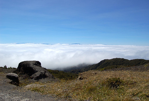 Above the stratus cloud level, atop the Irazu Volcano - Cordillera de Central (mountains) - Cartago province