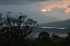 Sunset at Lake Arenal - with the Cordillera de Tilaran (mountains) in the distance - Guanacaste province