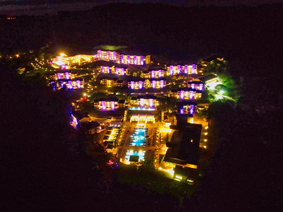 Papagayo, Guanacaste/ Costa Rica - November 2018: Planet Hollywood Costa Rica Hotel at Peninsula Papagayo