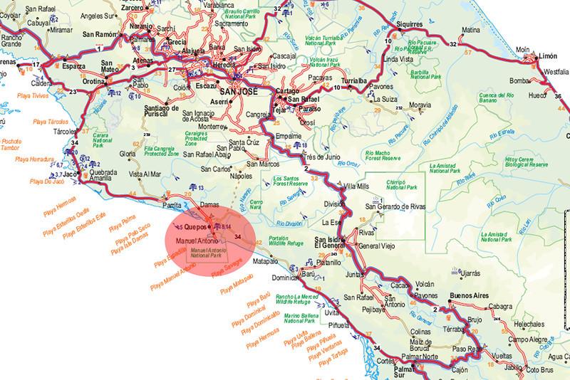 080119 0000 Costa Rica - Manuel Antonio - Map _E _L ~E ~L