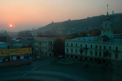 041113 0701 Georgia - Tbilisi Rustavi Square Sunrise _D _E _I _H ~E ~L
