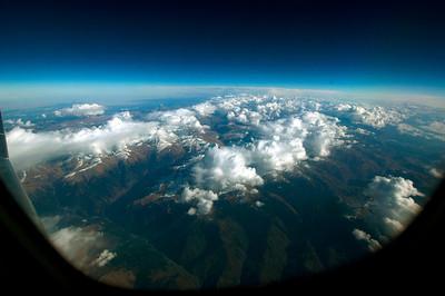 041111 0612 Georgia - Flight to Tbilisi Caucasus Mountains _D _E ~E ~L