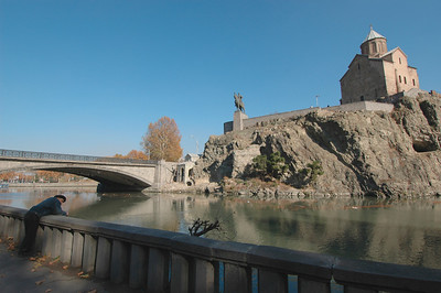 041119 1272 Georgia - Tbilisi - Church over river _C _E _H _N ~E ~L