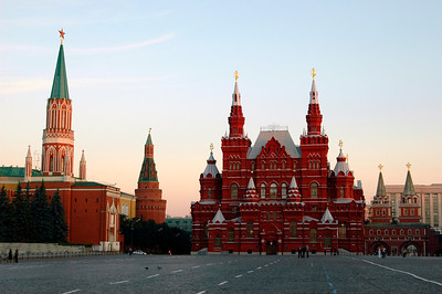 040819 0129 Moscow - Early Morning Red Square red brick building _H ~E ~L