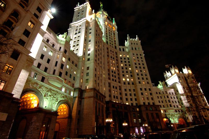 041106 0512 Russia - Moscow Kotelnichskaya House at Night _H ~E ~L