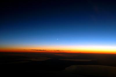 041020 0482 Uzbekistan - Flight to Tashkent Nightfall _D _E _I ~E ~L