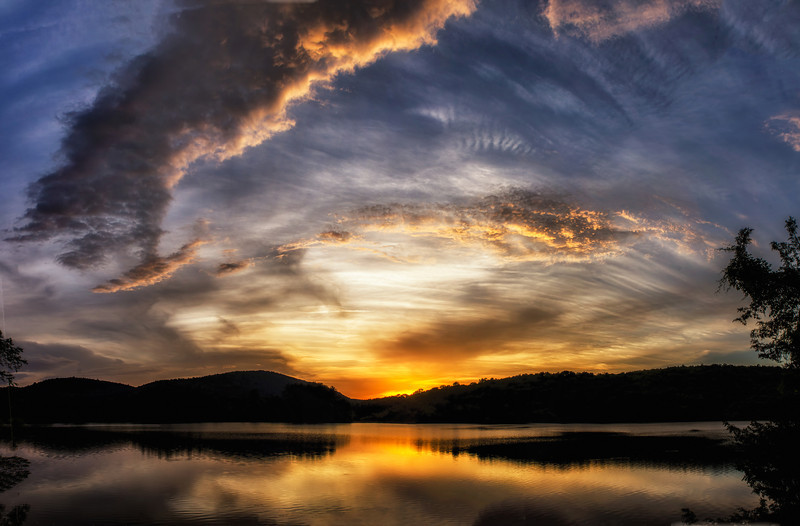 Sun sets on a Reservoir in Northern New Jersey