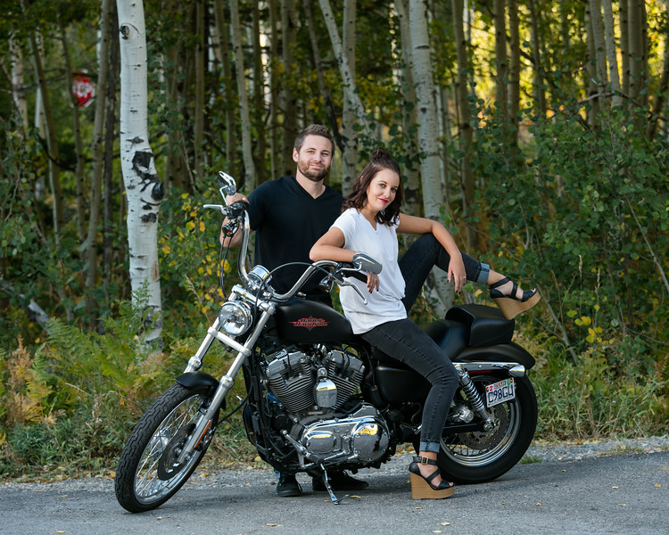 Couple Portraits with Bike