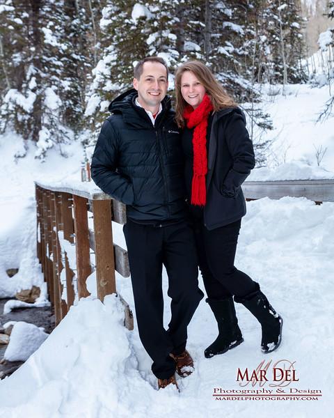 Snow couple by Bridge