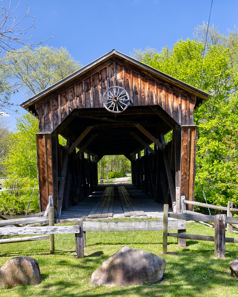 Kidds Mill Covered Bridge in Shanango, PA, Pymatuning Township, Mercer County. Kidds Mill is thoe only Smith Truss bridge in Pennsylvania and the only existing covered bridge in Mercer County