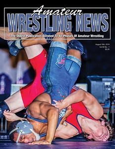 Amateur Wrestling News - 2014 08 Cover__