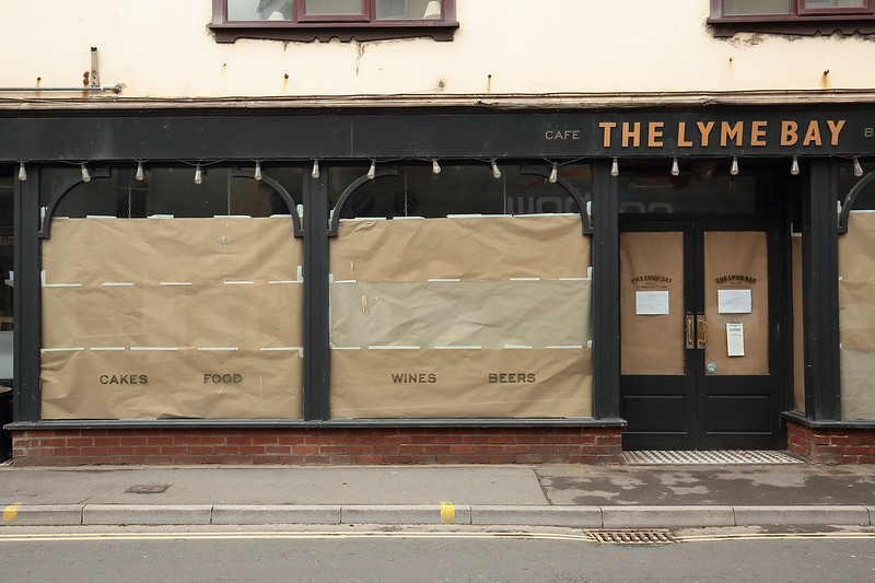 Corvid cafe closure Lyme Regis by Andy White