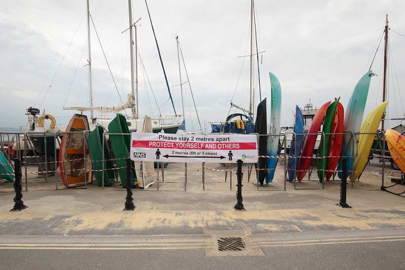 Social distancing Lyme Regis by Andy White