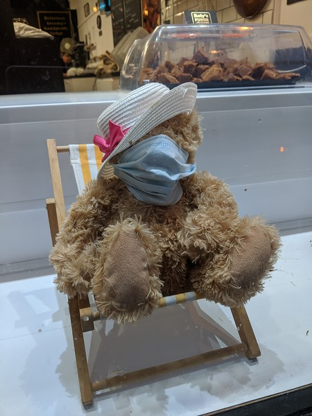 Teddy mask by Katie Sivier