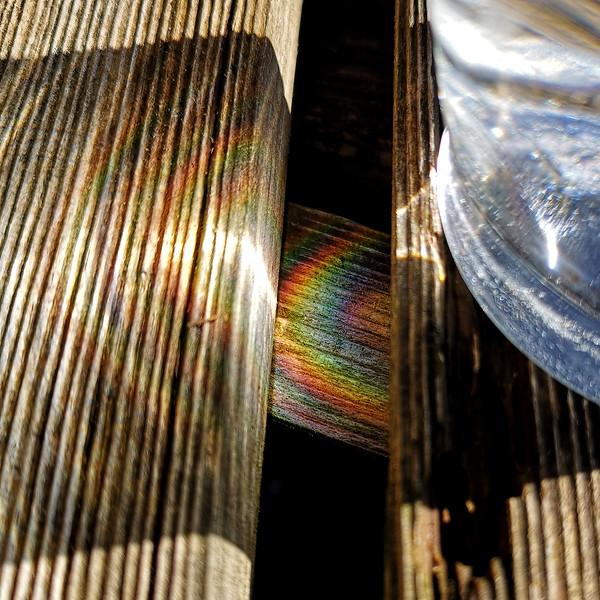 rainbow - stay home - covid19 by Cathy Warne