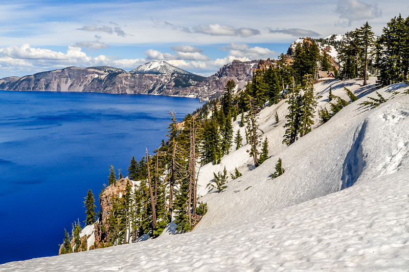 Snowy Banks of Crater Lake