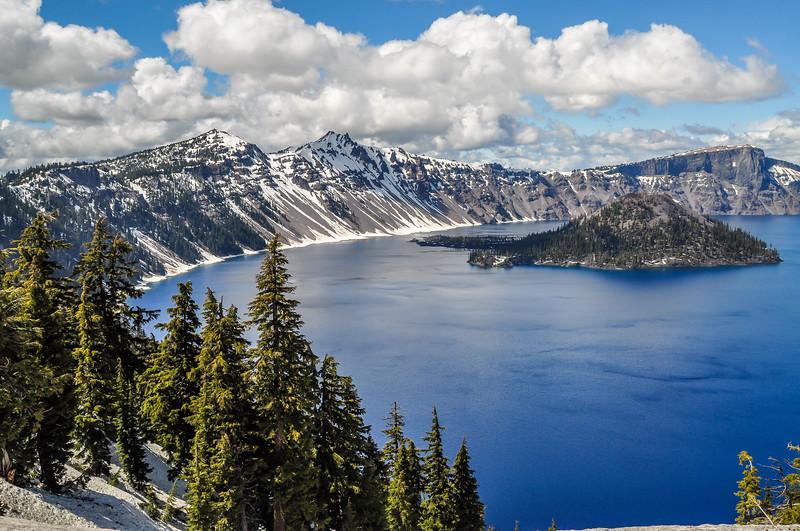 Blue Skies & Waters of Crater Lake