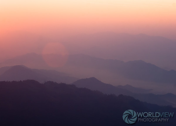 Sunrise colors from Phu Chi Fa Mountain (Thailand)