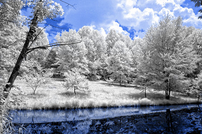 Infrared of a country pond in Nobob, KY.