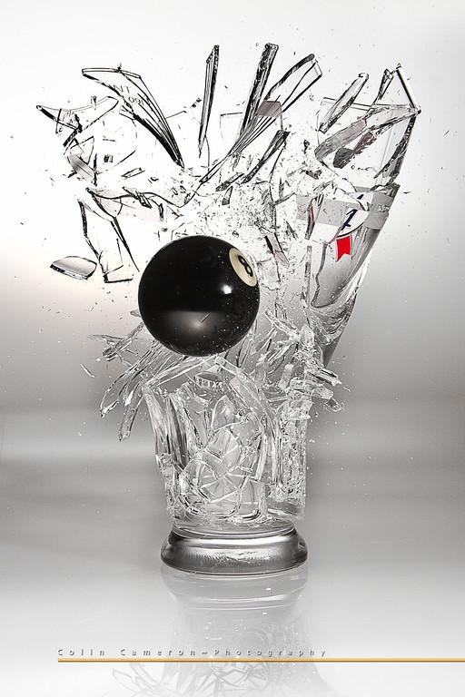 8 Ball Meets Pint Glass