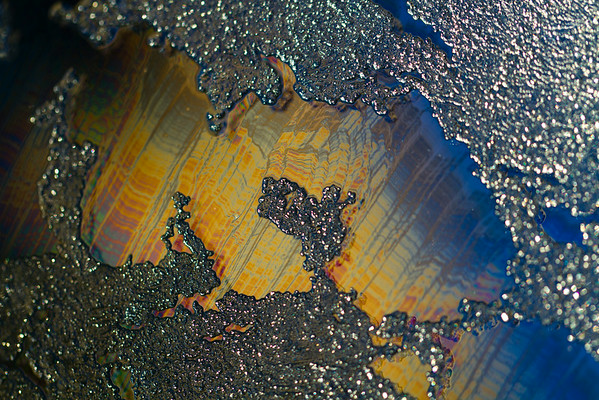 The iridescent colours of soap film