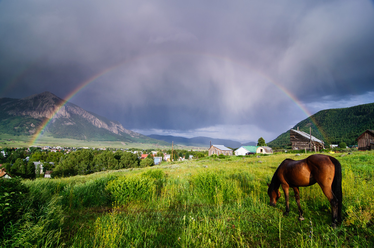 Crested Butte under the Rainbow