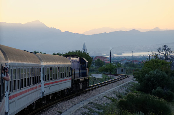 Arriving at Split by train in the morning