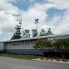 Entrance to the exibit & battleship