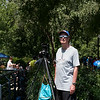 Barry with his camera mounted on its tripod watching the partial eclipse
