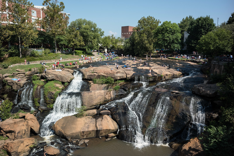 The park waterfalls about 2 hours prior to the start of the eclipse