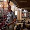 Massive restoration inside the theater due to storm damage