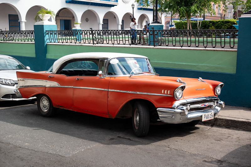 Classic American cars from the 1950's were seen in all 3 Cuban cities