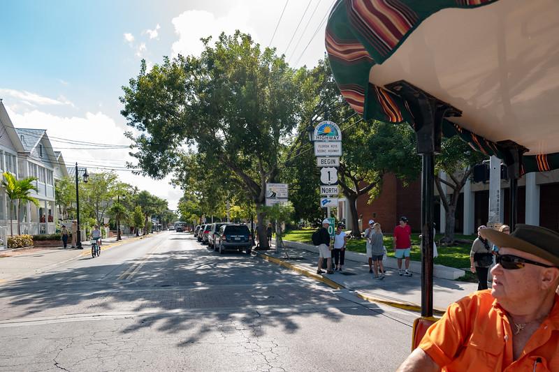 Start of US Highway 1 - Sign is often stolen