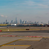 NYC skyline from the runway